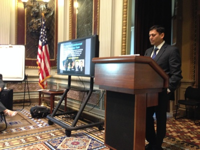 Professor Ashish Goel at the White House conference on participatory budgeting
